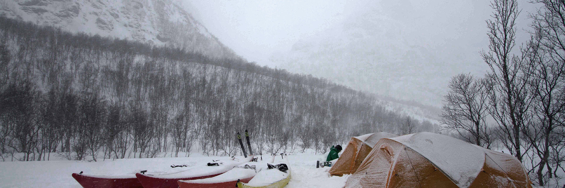 Winter camping Norway