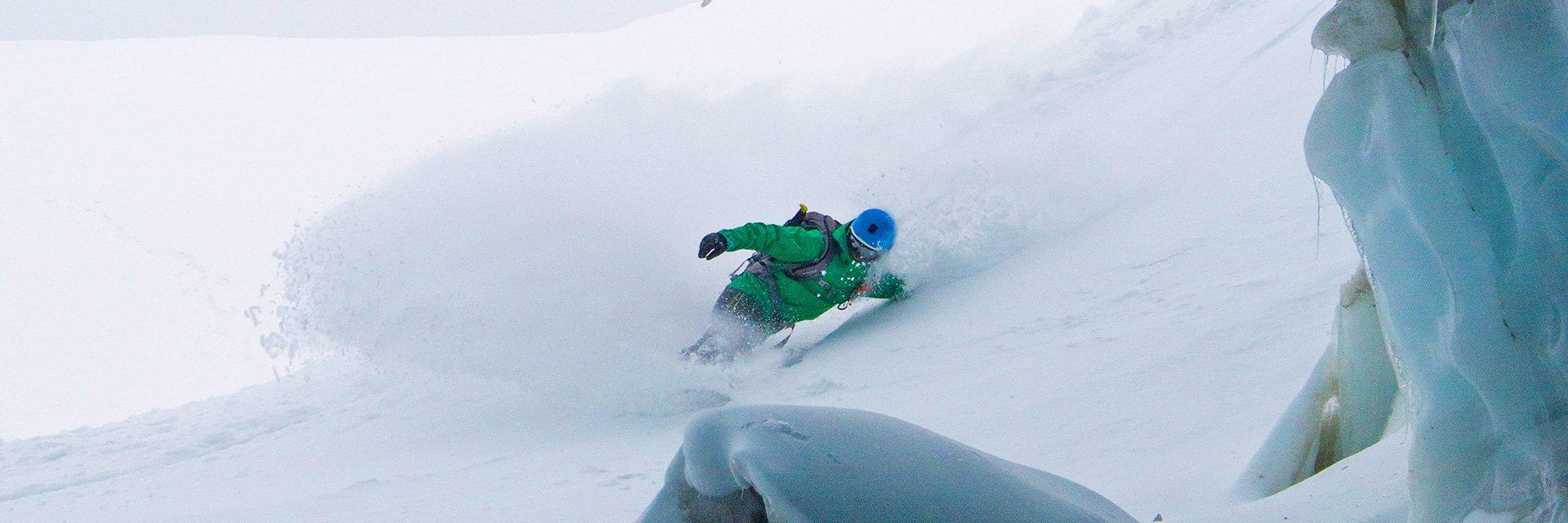 Stephan Verheij glacier freeriding
