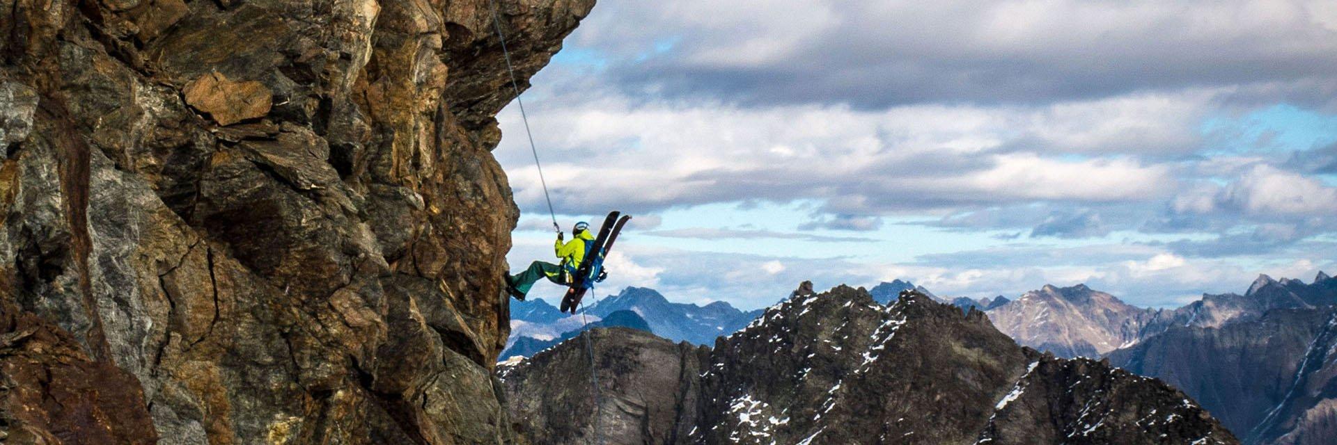 Stephan Verheij snowboard  Mountaineering Sölden