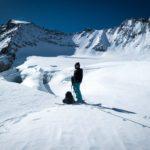 Caroline Ooms op de gletsjer