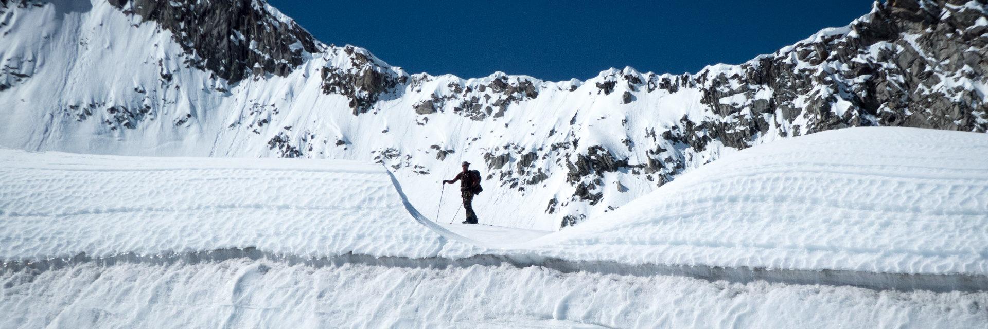Maarten van Komen on the glacier